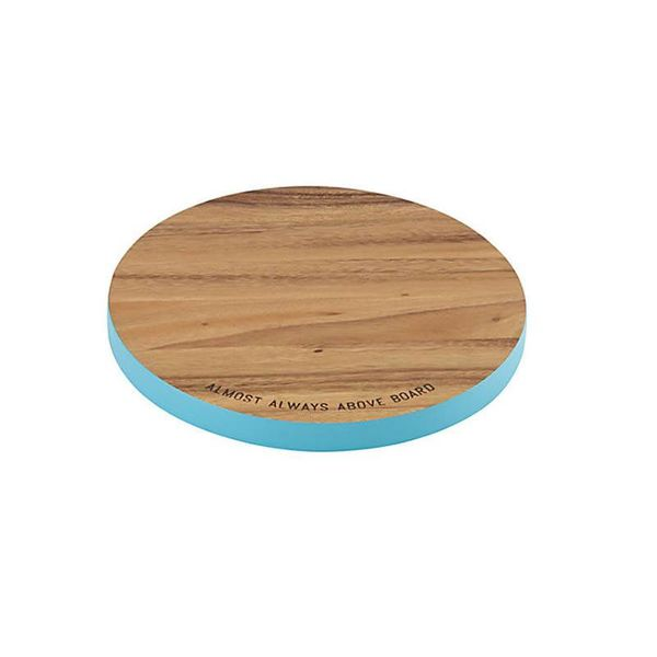 """Kate Spade """"Almost Always Above Board"""" Round Cutting Board"""