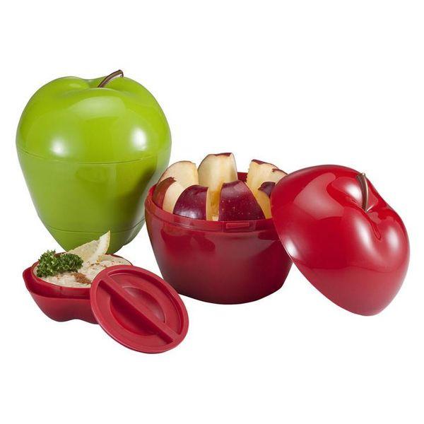 Snack-Attack contenant pour pomme ou colation de Hutzler (rouge ou vert)