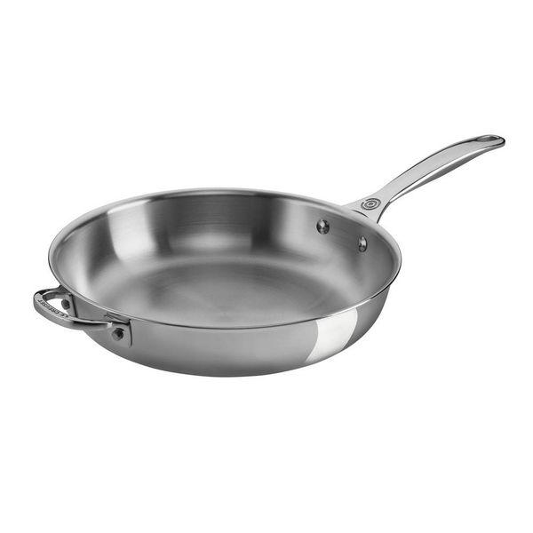 Le Creuset 32cm Stainless Steel Deep Fry Pan