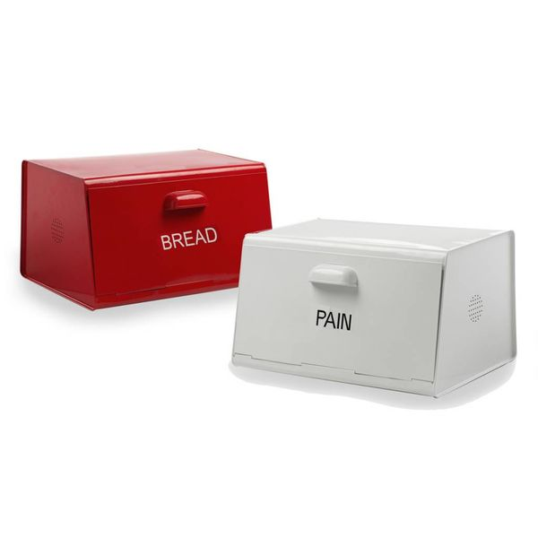 "DecorSense White ""Pain"" Bread Box"