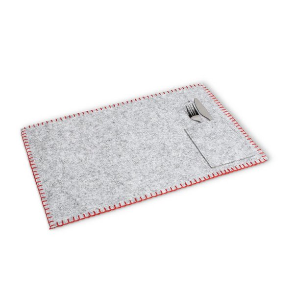 Abbott Felt Table Mat with Sewn Pocket Grey