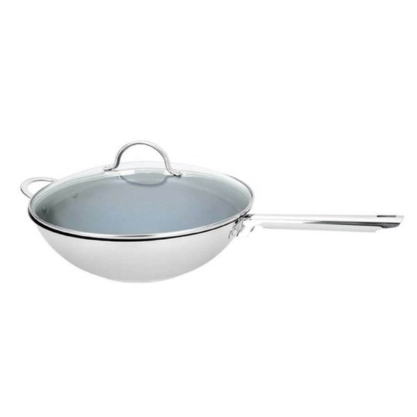 Cool Kitchen Pro Green Cuisine 32 cm Wok with Lid