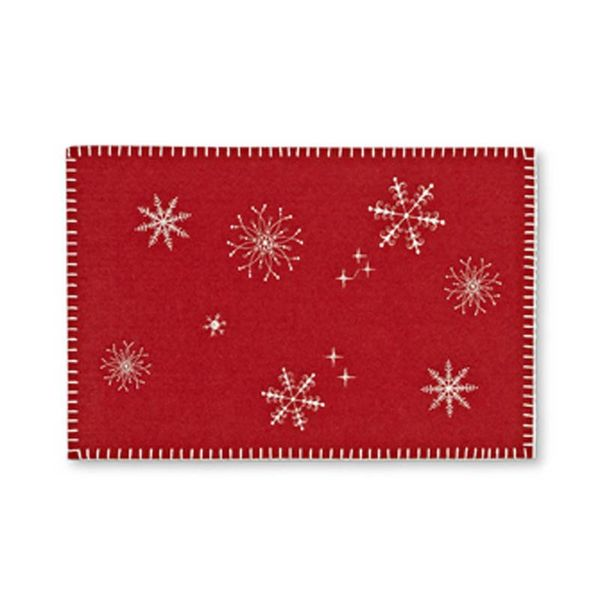 Abbott Stitched Snowflake Table Mat