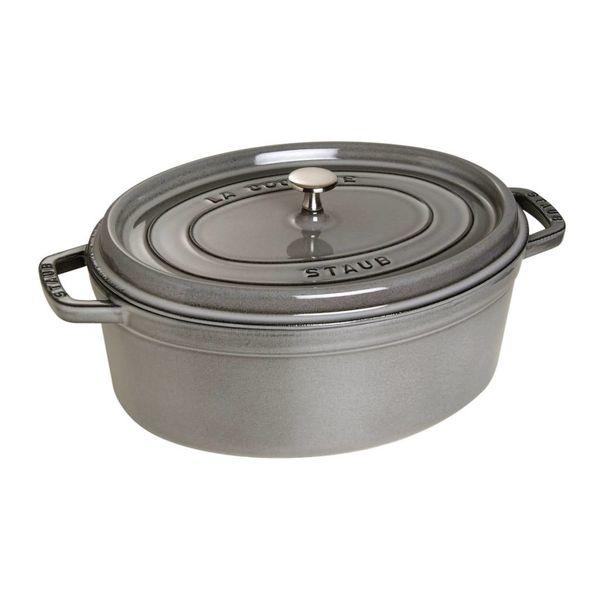 Cocotte Ovale Staub 5.5 L / Fonte / Gris