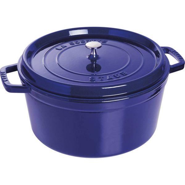 Cocotte ronde Staub 12.5 L / Fonte / Bleu foncé