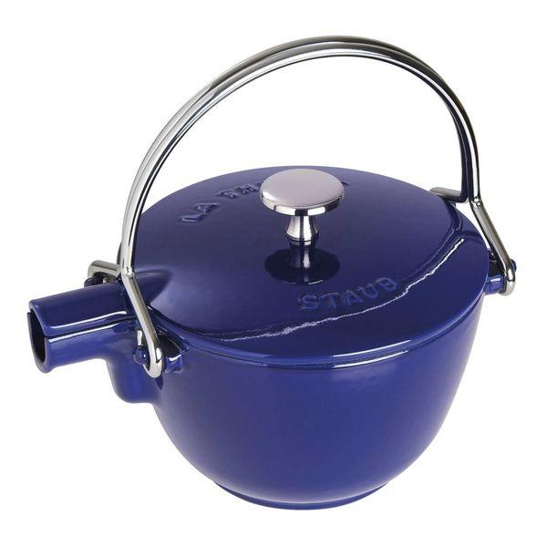 Bouilloire Staub 1.1 L / Fonte / Bleu foncé