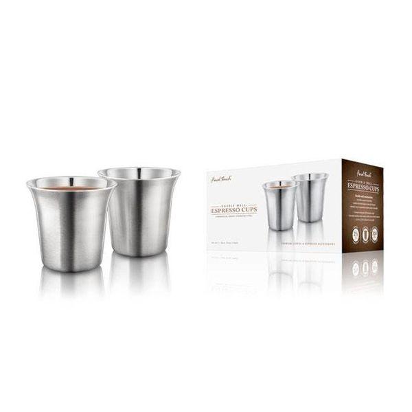 Tasses à espresso à double paroi de Final Touch