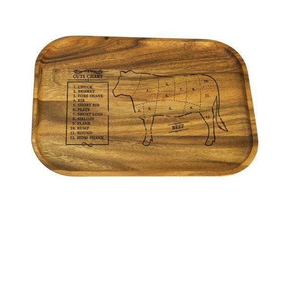 Planche de service à biftech en bois d'acacia de Ironwood