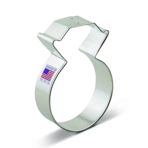 Ann Clark Cookie Cutter Diamond Ring 3.75''
