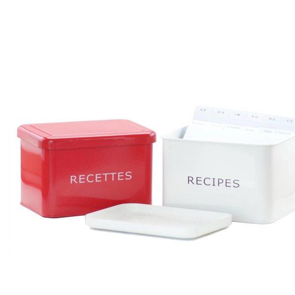 Boîte à recettes blanche de DecorSense
