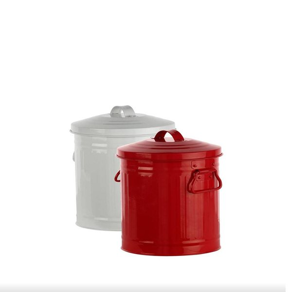 DecorSense Red Scrap Bin