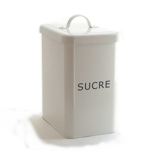 DecorSense White Sugar Canister