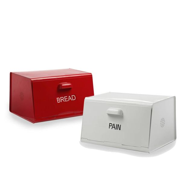 DecorSense Red Bread Box