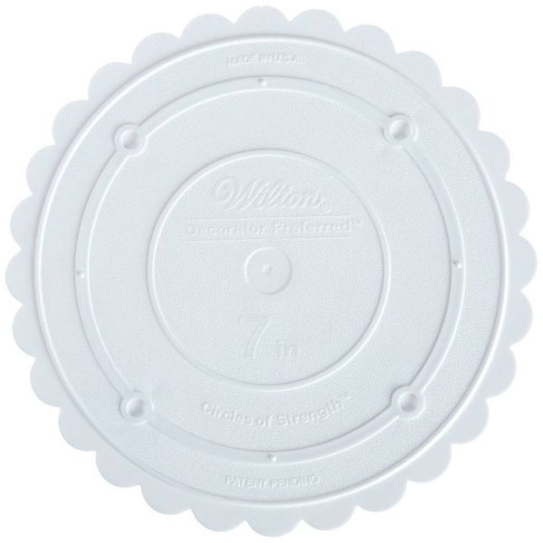 "Wilton Decorator Preferred 7"" Scalloped Separator Plate"