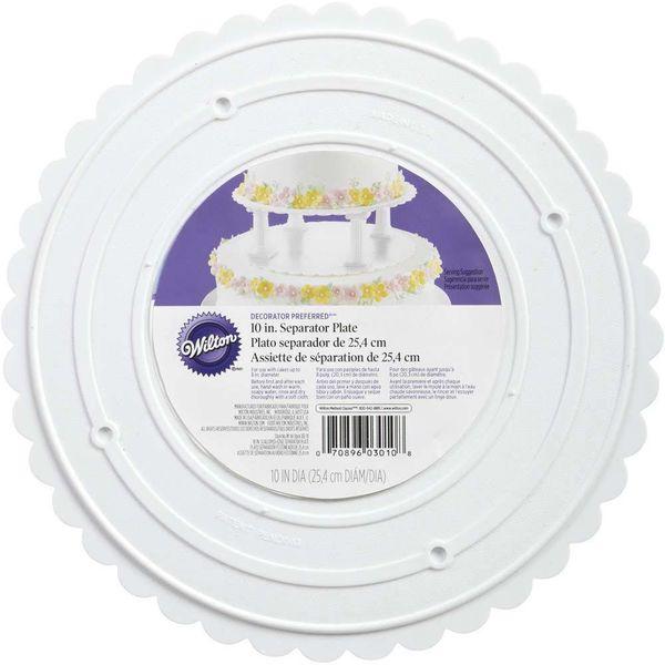 """Wilton Decorator Preferred 10"""" Scalloped Separator Plate"""