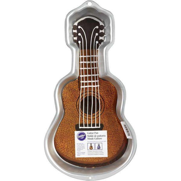 Moule à gâteau en forme de guitare de Wilton