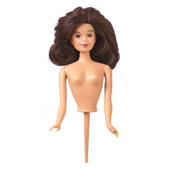 Figurine pour gâteau en poupée brunette de Wilton