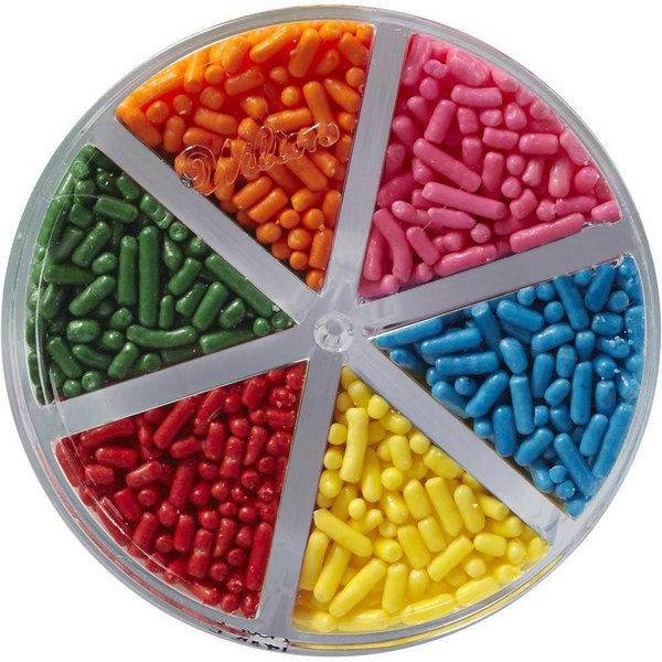 Assortiment de 6-couleurs de paillettes en chocolat de Wilton