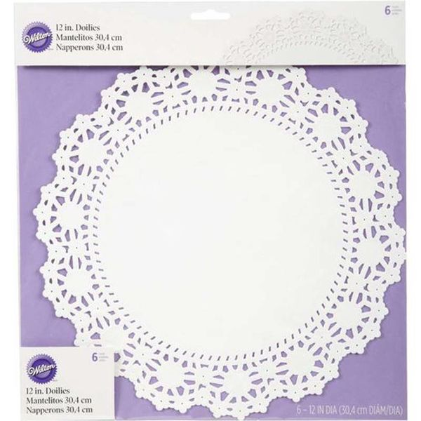 Wilton 30.4cm Round Grease-Proof White Doilies