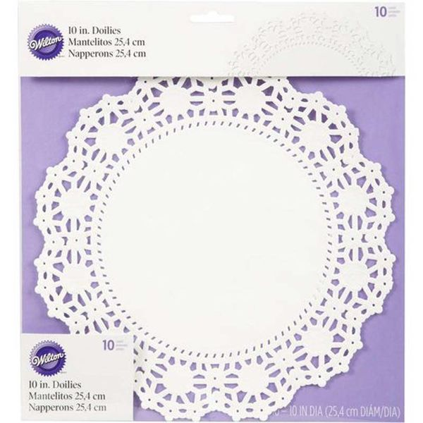 Napperons blancs anti-graisse 25.4cm ronds de Wilton