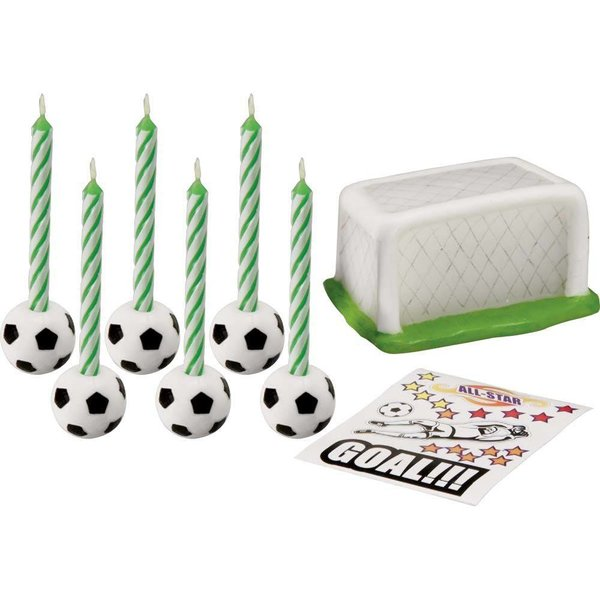 Wilton Soccer Candle Set with Decals
