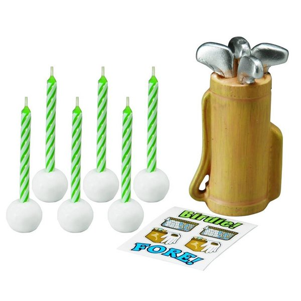 Wilton Golf Candle Set with Decals