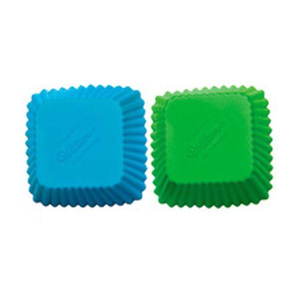 Caissettes à cupcake carrés en silicone de Wilton