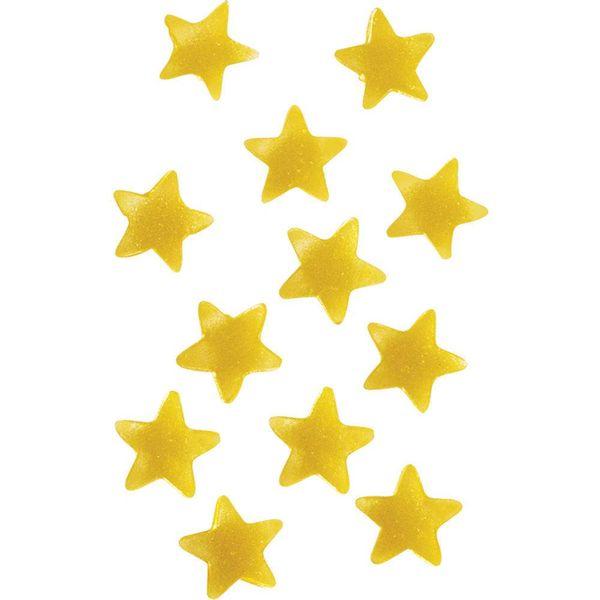 Accents comestibles en étoiles dorées de Wilton