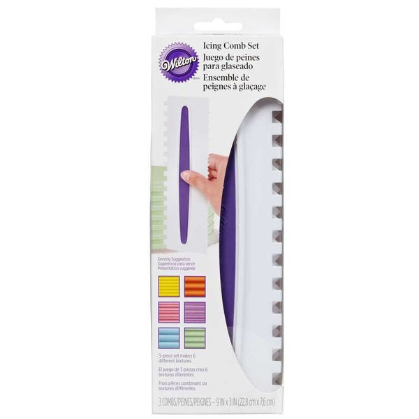 Wilton Icing Comb 3 Piece Set