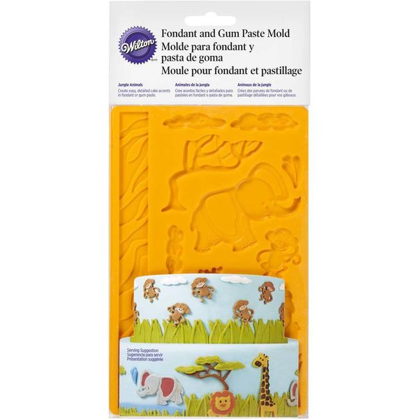 Wilton Jungle Animals Fondant & Gum Paste Mold