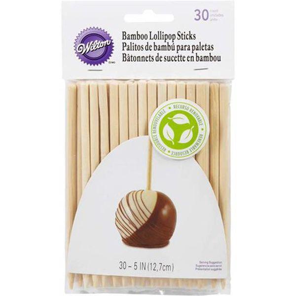 """Bâtonnets à suçon en bamboo 5"""" (13cm) de Wilton"""