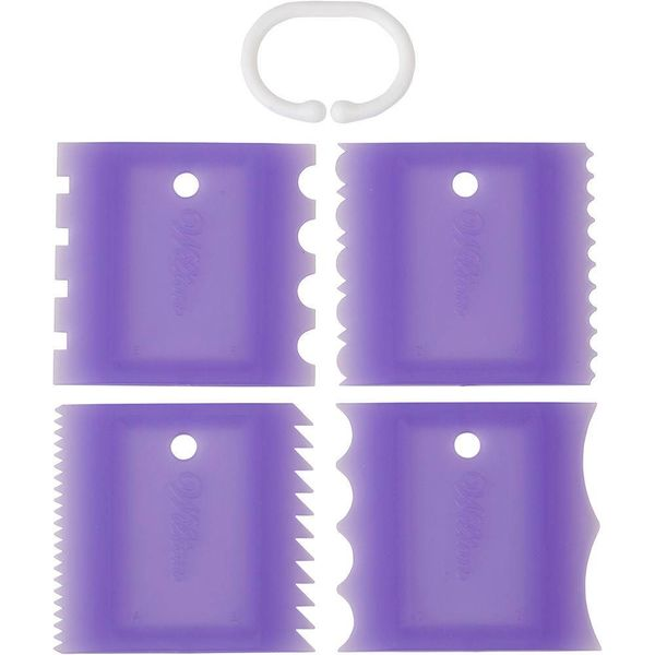 Wilton 4-Piece Cake Combs Set