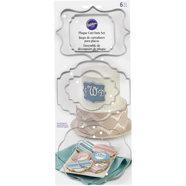 Wilton Plaque Fondant Cut-Outs Set