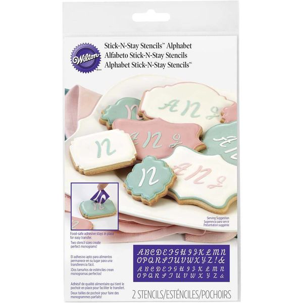 Wilton Stick-N-Stay Monogram Stencils