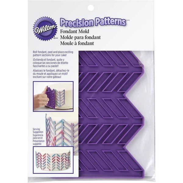 """Moule à motif de lignes diagonales """"Precision Patterns"""" pour fondant de Wilton"""