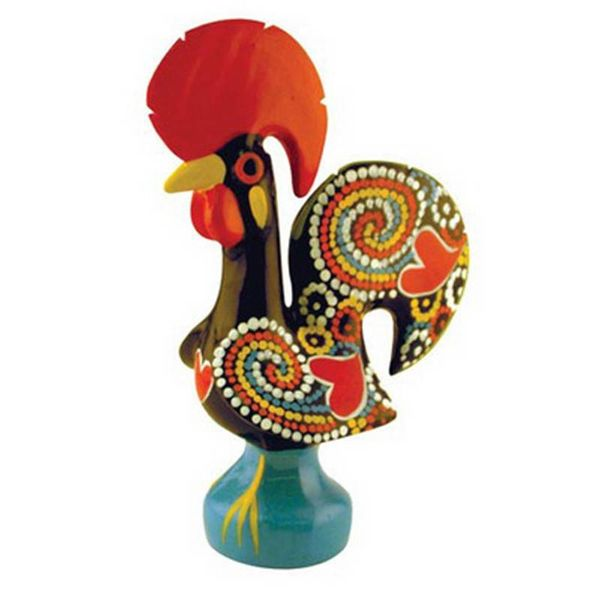 Portugal Imports The Good Luck Rooster 25cm Barcelos Black Collection