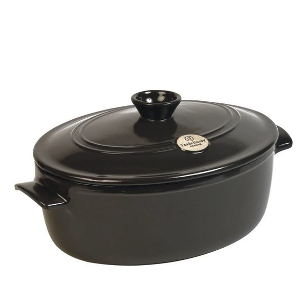 Emile Henry 6L Oval Stewpot - Charcoal
