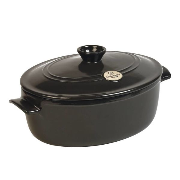 Emile Henry 4.7L Oval Stewpot - Charcoal