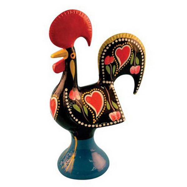 Portugal Imports The Good Luck Rooster 14cm Barcelos Black Metal Collection