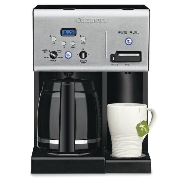 Café plus machine à café 12-tasses programmable et système d'eau chaude
