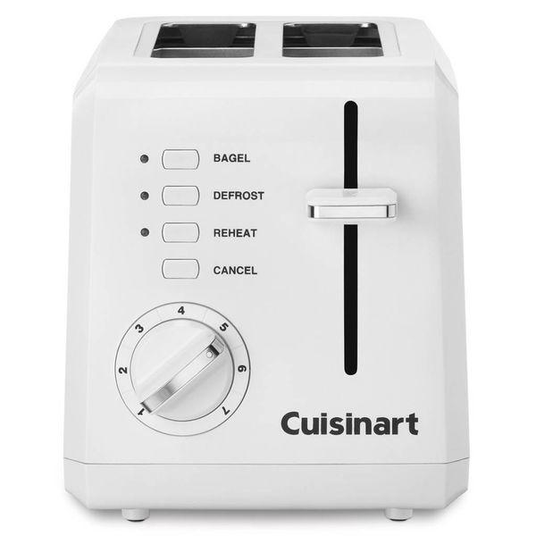 Grille-pain compacte blanc 2-tranches de Cuisinart