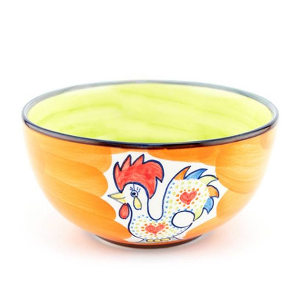 Portugal Imports Joyful Rooster Cereal Bowl