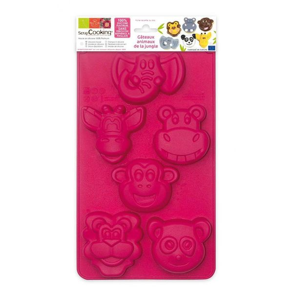 ScrapCooking Jungle Animals Silicone Mould