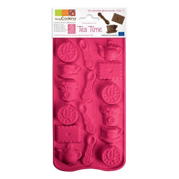 Moule à chocolat L'Heure du Thé en silicone de ScrapCooking