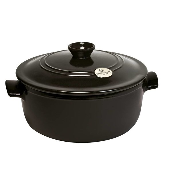 Emile Henry 5.3L Round Stewpot - Charcoal