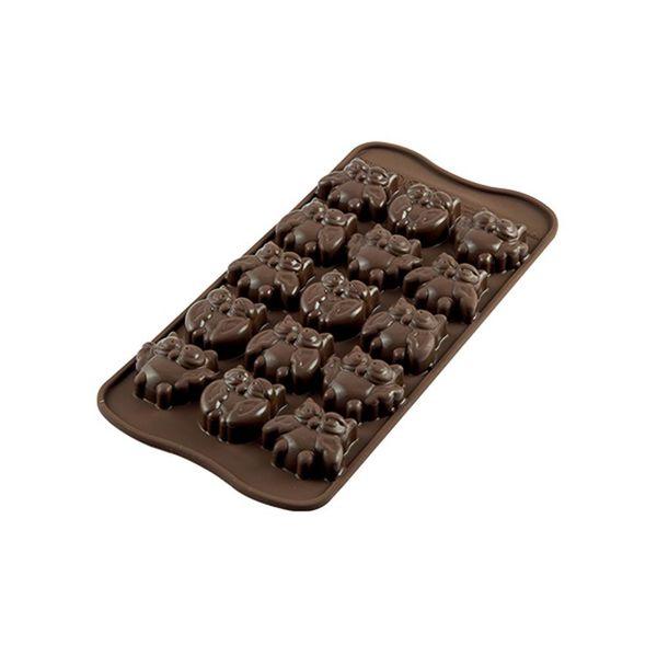 """Moule à chocolat Choco Gufi """"Easy Choc"""" en silicone de Silikomart"""