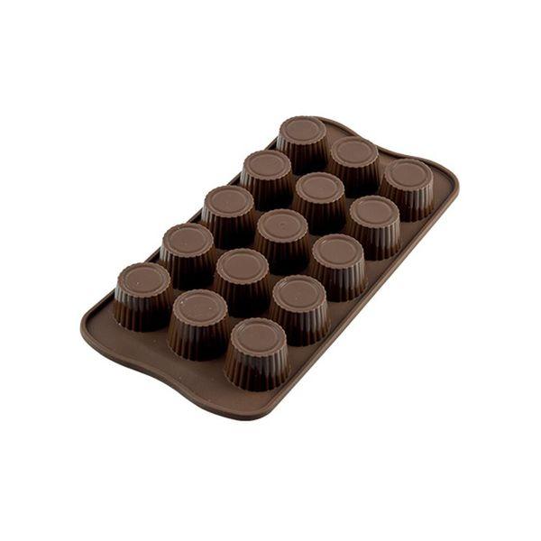 """Moule à chocolat forme praline """"Easy Choc"""" en silicone de  Silikomart"""