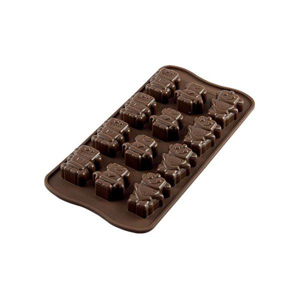 """Moule à chocolat Robochoc """"Easy Choc"""" en silicone de Silikomart"""