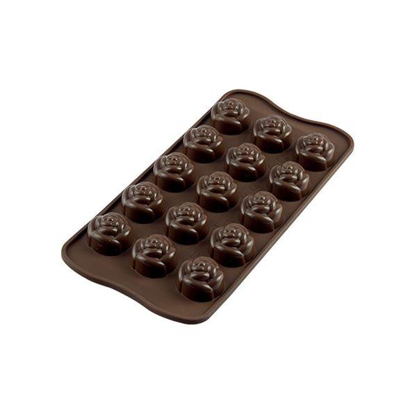 Moule à chocolat en silicone forme de rose de Silikomart