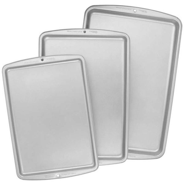 Wilton Recipe Right Cookie Pan Set of 3